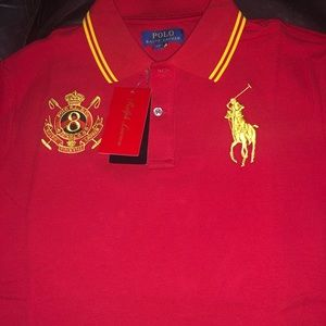 Red polo Ralph Lauren shirt NEW WITH TAGS